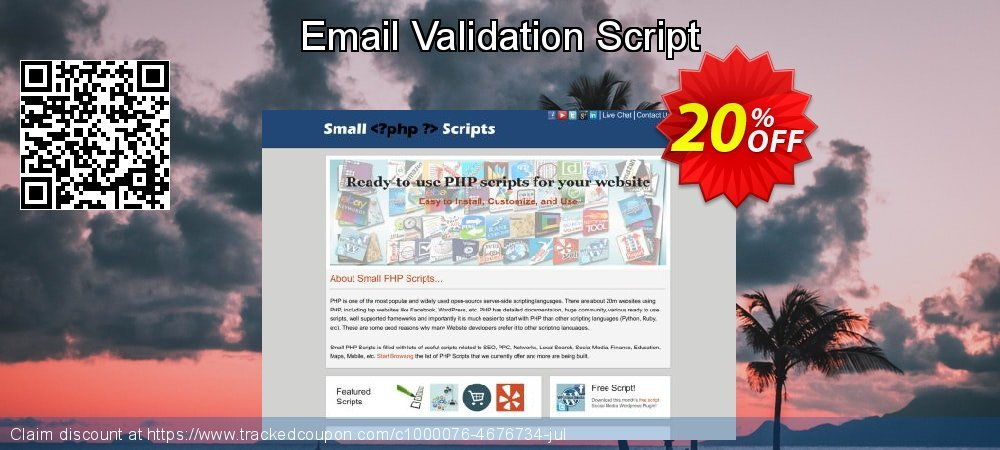 Email Validation Script coupon on Easter promotions