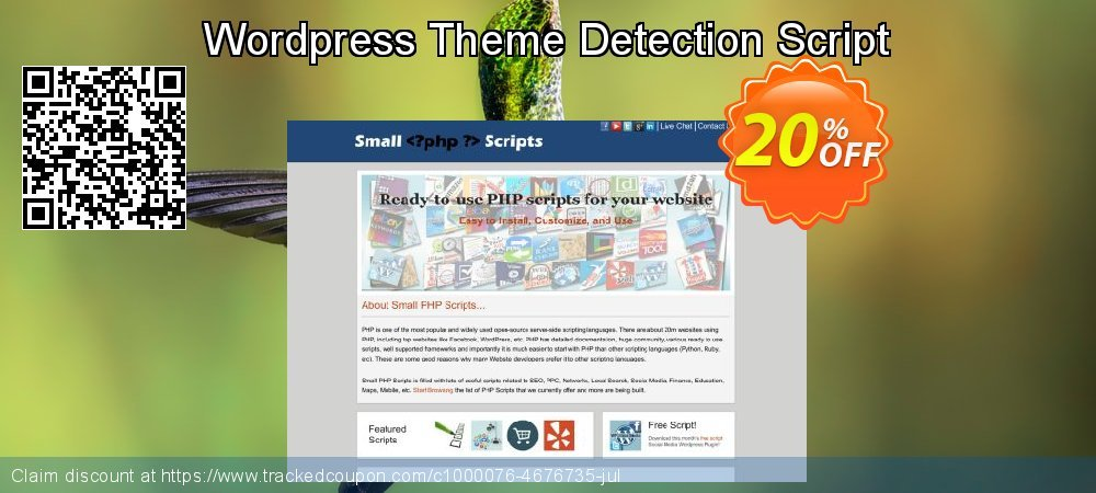 Get 10% OFF Wordpress Theme Detection Script promotions