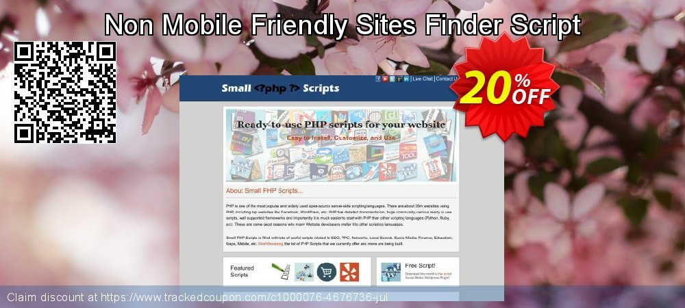 Non Mobile Friendly Sites Finder Script coupon on April Fool's Day deals