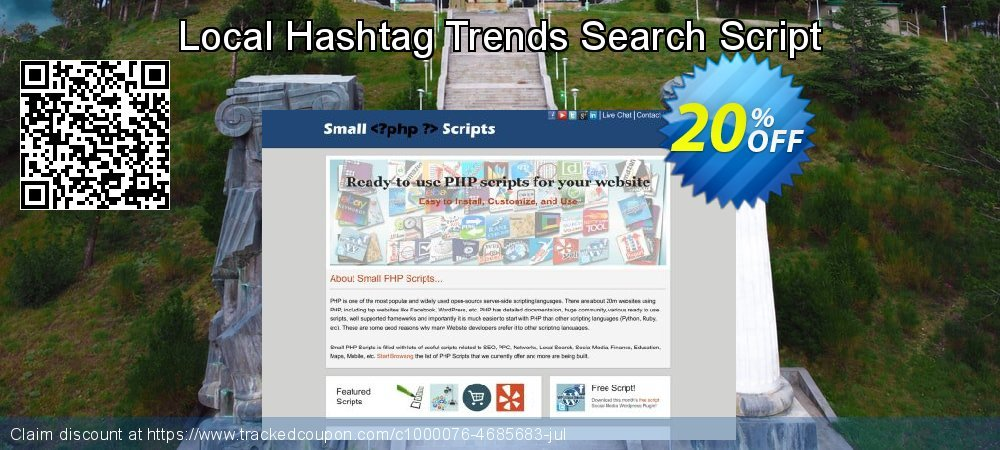 Get 10% OFF Local Hashtag Trends Search Script offering sales