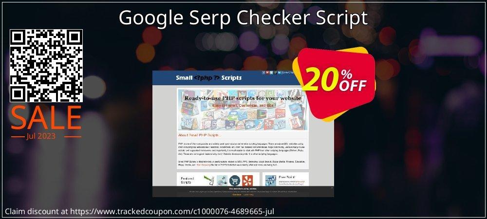 Google Serp Checker Script coupon on Easter Sunday super sale