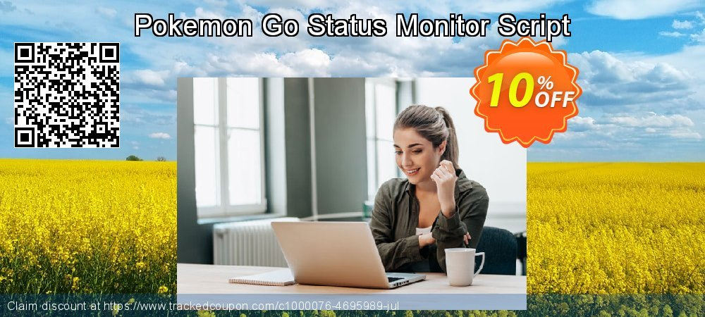 Get 10% OFF Pokemon Go Status Monitor Script offering sales
