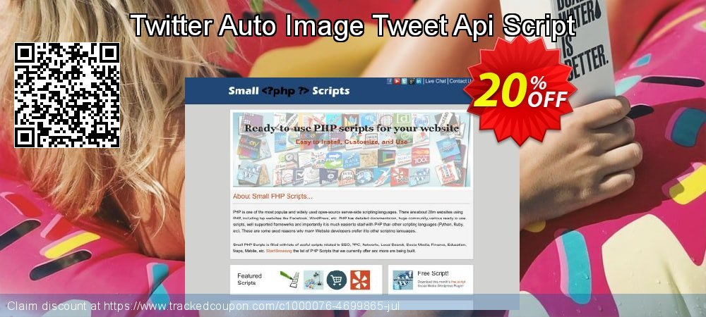 Twitter Auto Image Tweet Api Script coupon on Easter Sunday sales