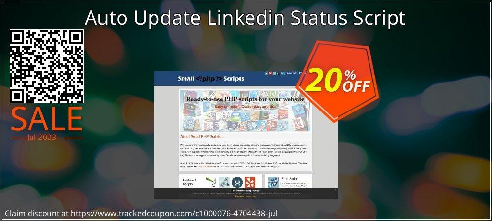 Auto Update Linkedin Status Script coupon on Easter deals