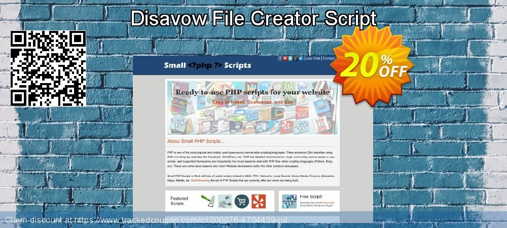 Disavow File Creator Script coupon on Spring offer