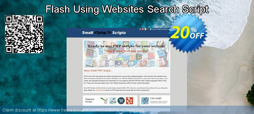 Flash Using Websites Search Script coupon on April Fool's Day discount