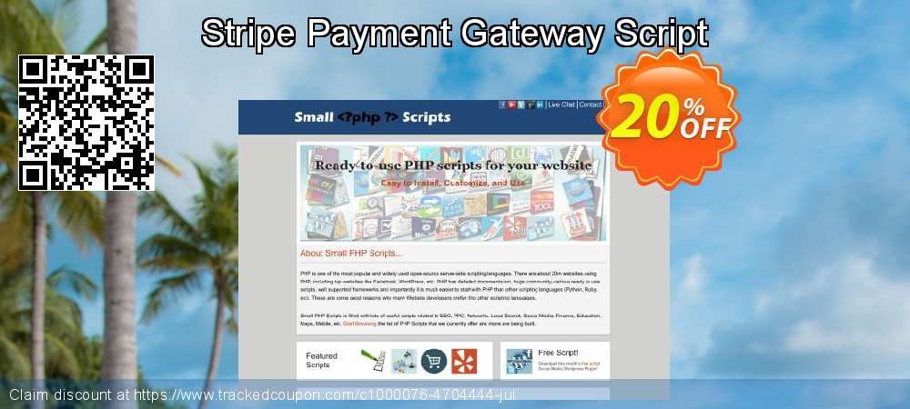 Stripe Payment Gateway Script coupon on April Fool's Day discounts