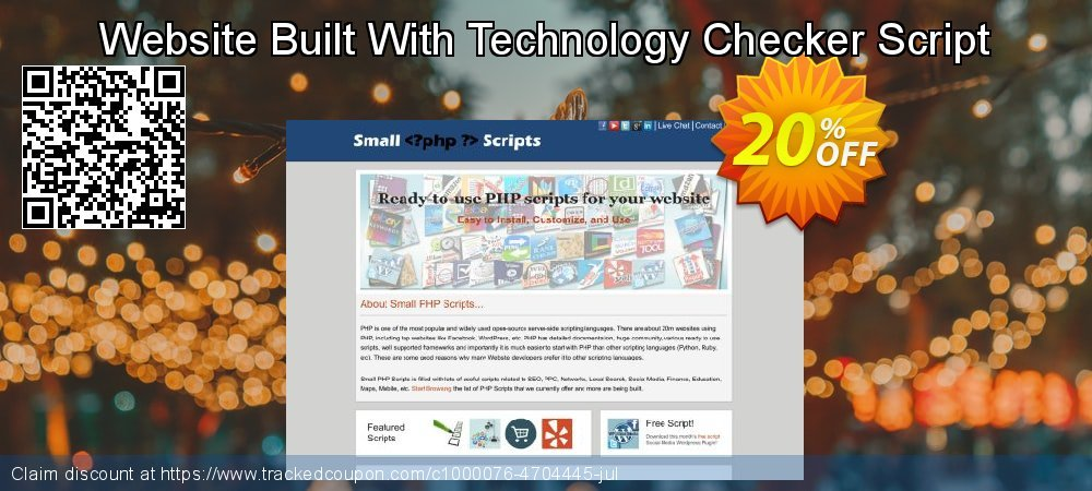 Website Built With Technology Checker Script coupon on Easter Sunday promotions