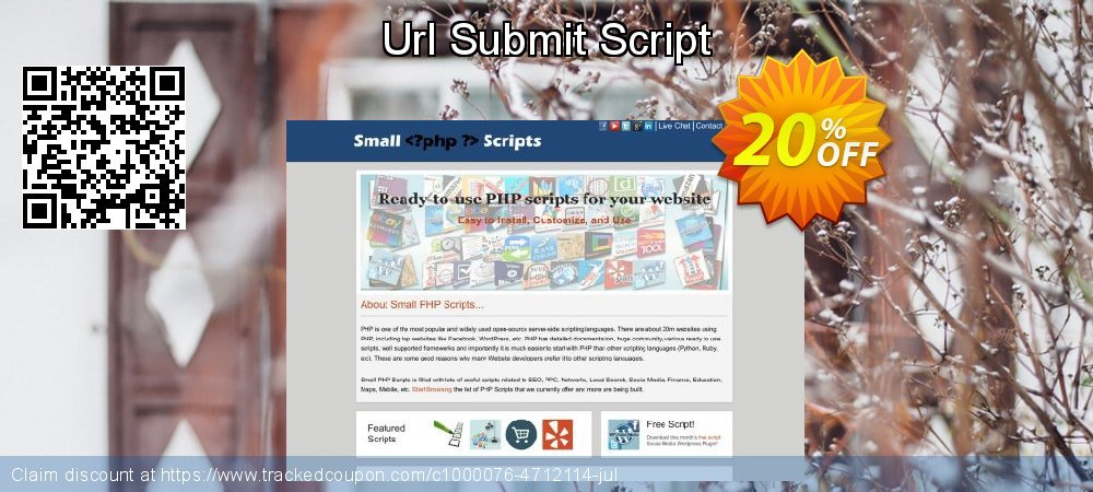 Url Submit Script coupon on Easter sales