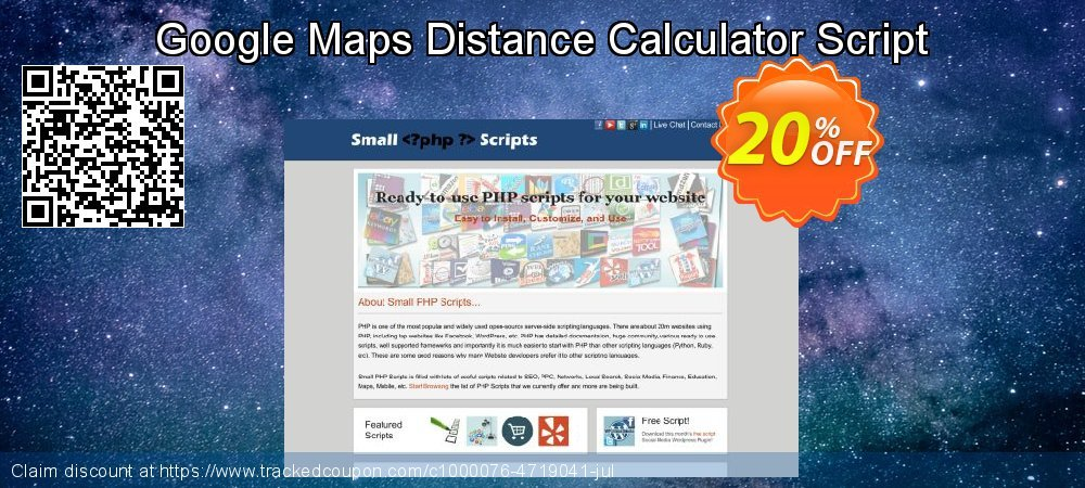 Google Maps Distance Calculator Script coupon on Mothers Day discounts
