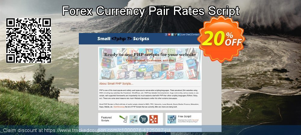 Forex Currency Pair Rates Script coupon on Spring offering discount