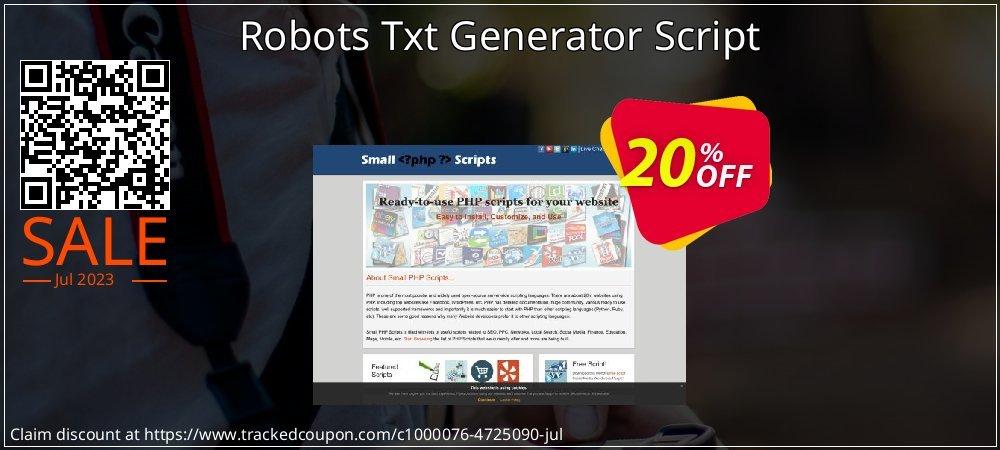 Robots Txt Generator Script coupon on Easter discounts