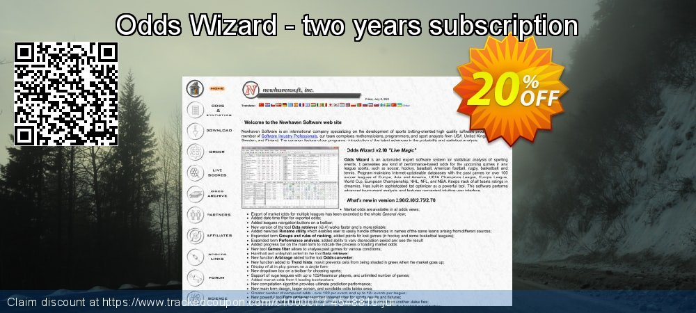 Odds Wizard - two years subscription coupon on Super bowl discount