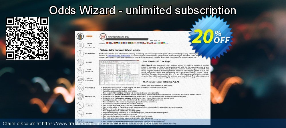 Odds Wizard - unlimited subscription coupon on Spring discount
