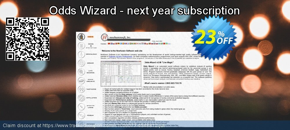 Odds Wizard - next year subscription coupon on April Fool's Day offering discount