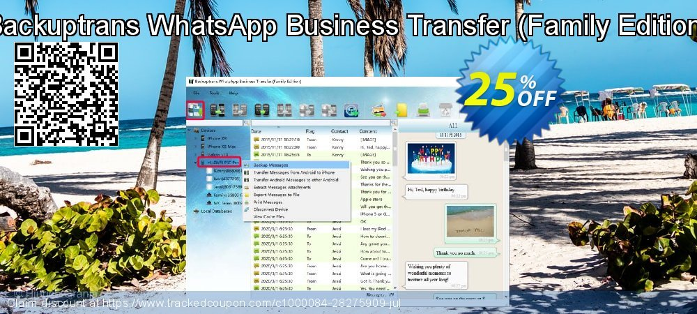 Backuptrans WhatsApp Business Transfer - Family Edition  coupon on University Student offer discounts