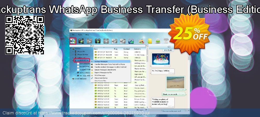 Backuptrans WhatsApp Business Transfer - Business Edition  coupon on Back to School promotion deals