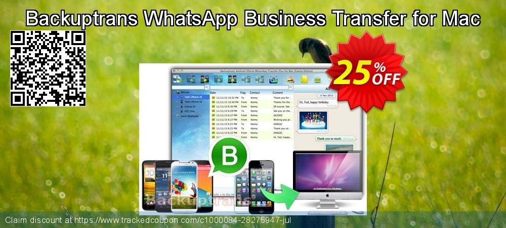 Backuptrans WhatsApp Business Transfer for Mac coupon on Back to School promotion sales