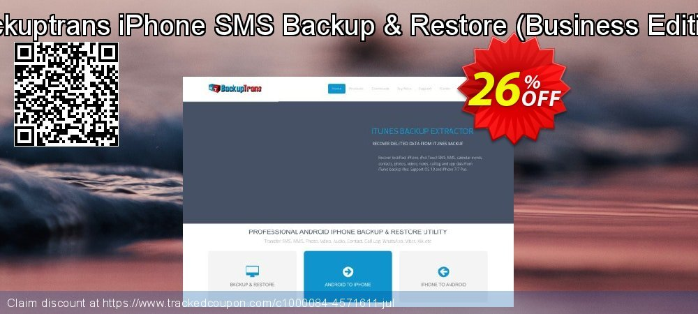 Backuptrans iPhone SMS Backup & Restore - Business Edition  coupon on Back to School promotions sales