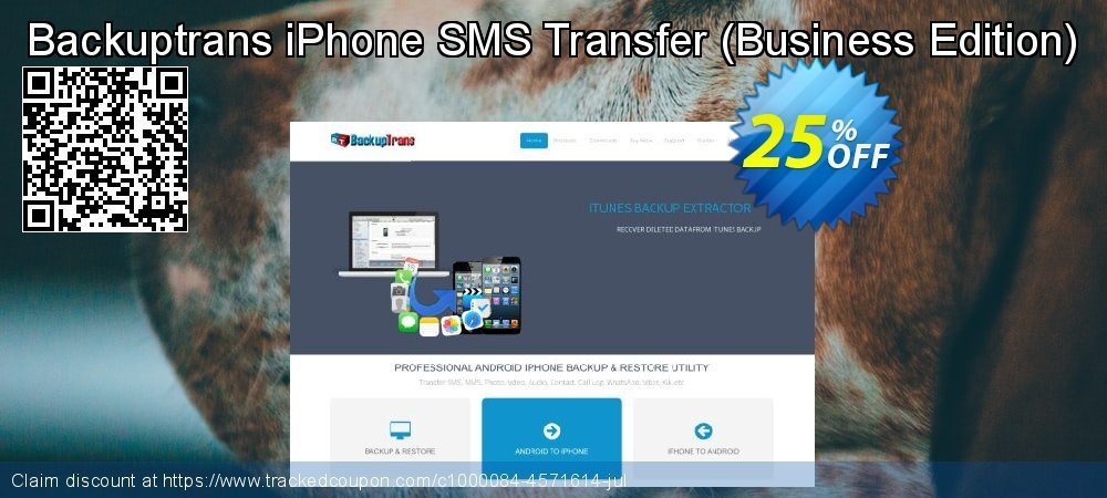 Backuptrans iPhone SMS Transfer - Business Edition  coupon on Easter discounts