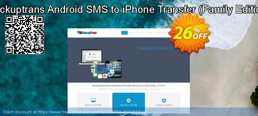 Backuptrans Android SMS to iPhone Transfer - Family Edition  coupon on Easter Sunday deals