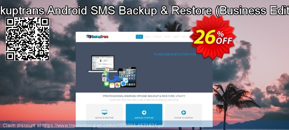 Backuptrans Android SMS Backup & Restore - Business Edition  coupon on Easter Sunday offering sales