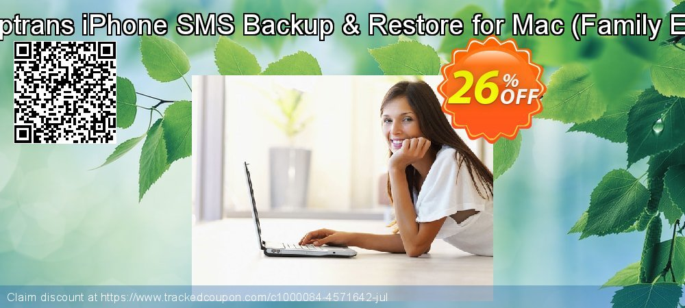 Backuptrans iPhone SMS Backup & Restore for Mac - Family Edition  coupon on Thanksgiving super sale