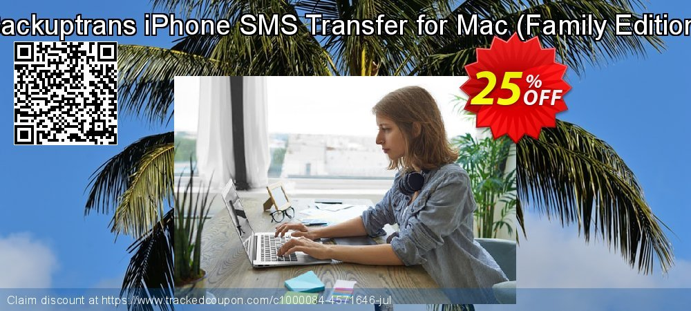 Backuptrans iPhone SMS Transfer for Mac - Family Edition  coupon on Thanksgiving deals
