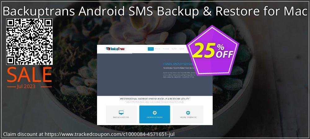 Backuptrans Android SMS Backup & Restore for Mac coupon on Black Friday super sale