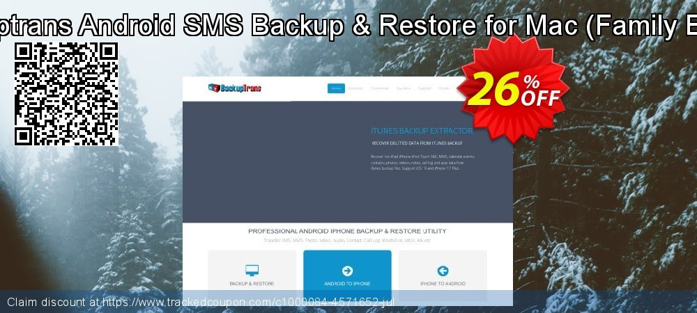 Backuptrans Android SMS Backup & Restore for Mac - Family Edition  coupon on April Fool's Day sales