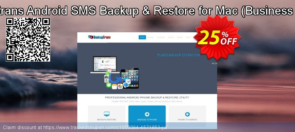 Backuptrans Android SMS Backup & Restore for Mac - Business Edition  coupon on Black Friday promotions