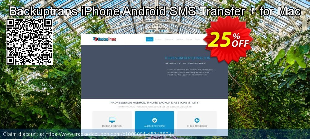 Backuptrans iPhone Android SMS Transfer + for Mac coupon on Black Friday offering discount