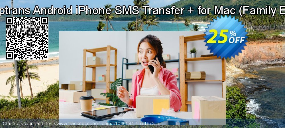 Backuptrans Android iPhone SMS Transfer + for Mac - Family Edition  coupon on Black Friday deals