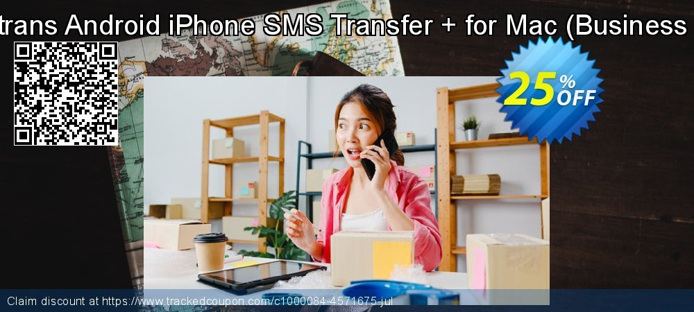 Backuptrans Android iPhone SMS Transfer + for Mac - Business Edition  coupon on Black Friday discount