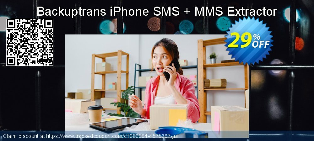 Backuptrans iPhone SMS + MMS Extractor coupon on Black Friday offering sales