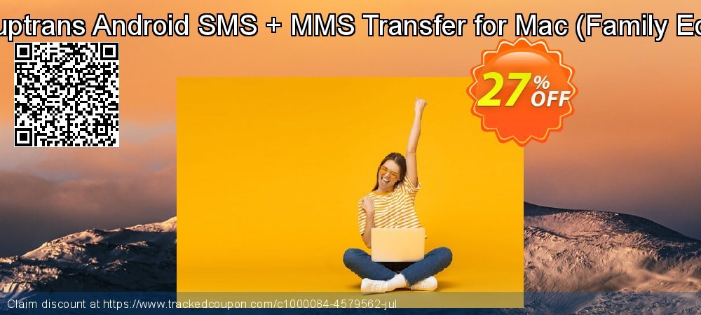 Backuptrans Android SMS + MMS Transfer for Mac - Family Edition  coupon on Thanksgiving super sale