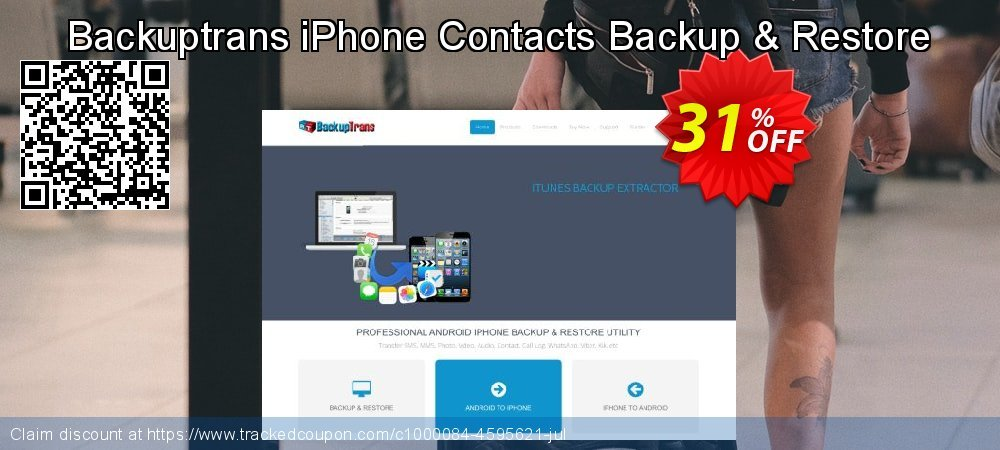 Backuptrans iPhone Contacts Backup & Restore coupon on Easter Sunday offer