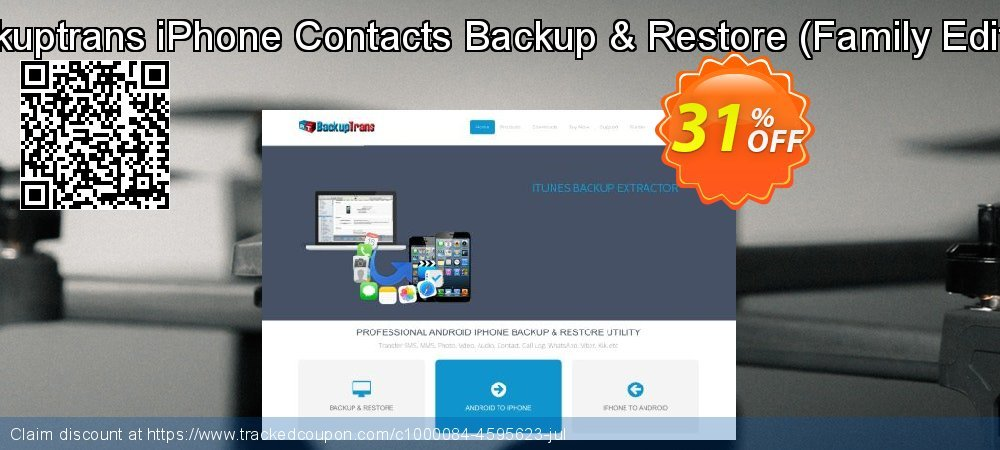 Backuptrans iPhone Contacts Backup & Restore - Family Edition  coupon on Spring offering discount