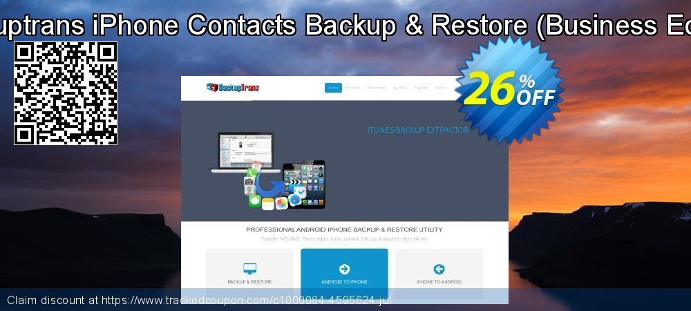 Backuptrans iPhone Contacts Backup & Restore - Business Edition  coupon on Thanksgiving discount