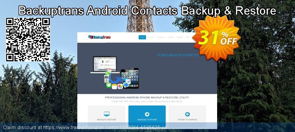 Backuptrans Android Contacts Backup & Restore coupon on Exclusive Teacher discount deals