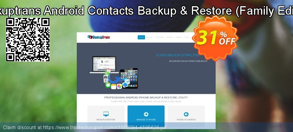 Backuptrans Android Contacts Backup & Restore - Family Edition  coupon on Easter discounts