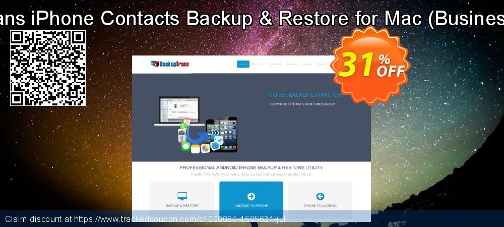 Backuptrans iPhone Contacts Backup & Restore for Mac - Business Edition  coupon on Spring discount