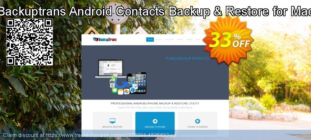 Backuptrans Android Contacts Backup & Restore for Mac coupon on April Fool's Day offering discount