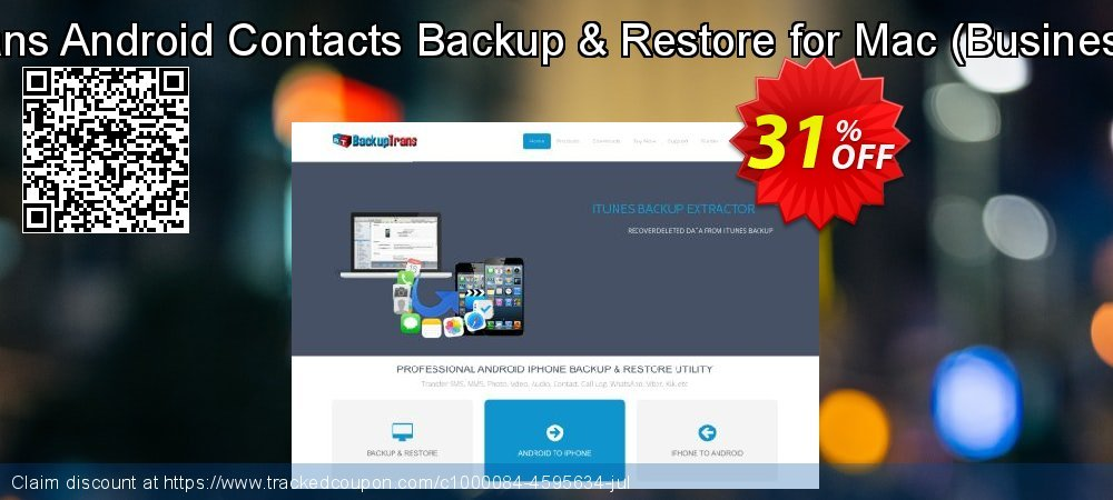 Backuptrans Android Contacts Backup & Restore for Mac - Business Edition  coupon on Thanksgiving offering discount