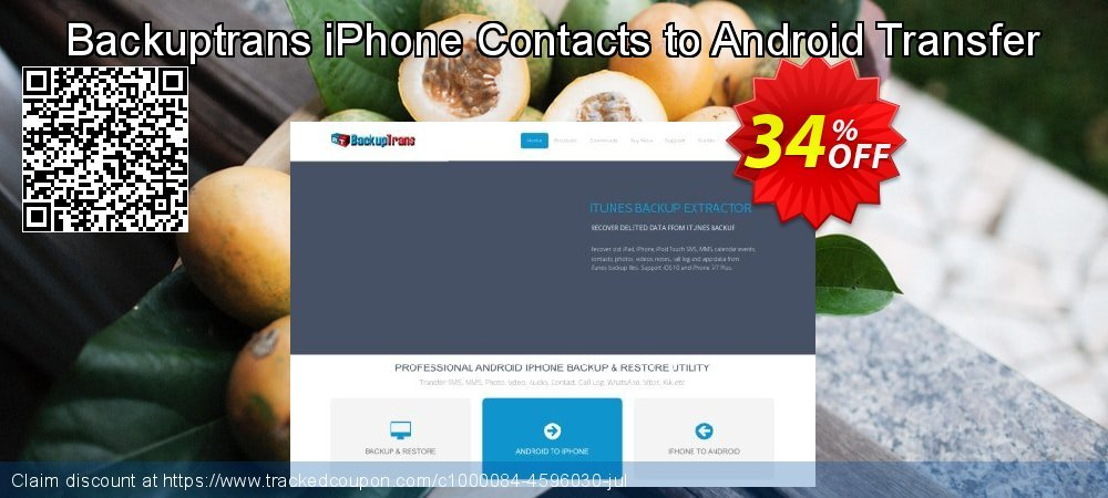 Backuptrans iPhone Contacts to Android Transfer coupon on Exclusive Student deals deals