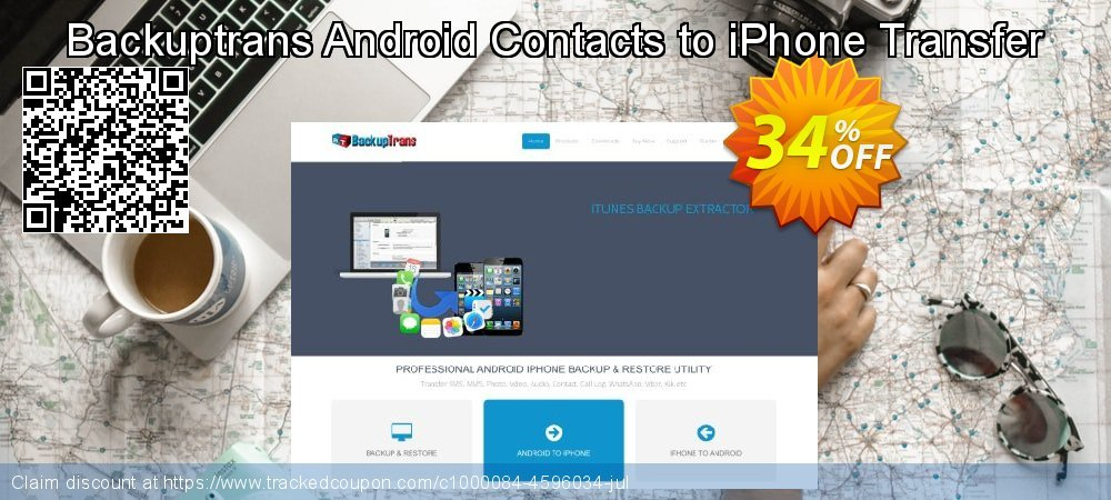 Backuptrans Android Contacts to iPhone Transfer coupon on Thanksgiving promotions