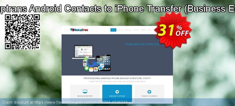 Backuptrans Android Contacts to iPhone Transfer - Business Edition  coupon on Christmas offer
