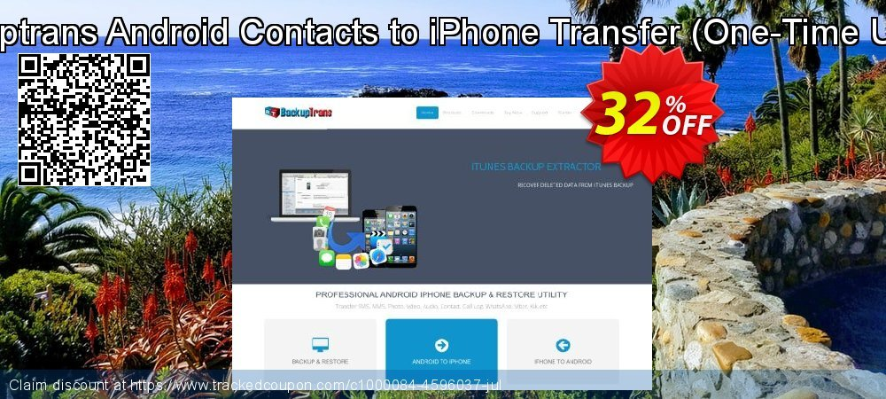 Backuptrans Android Contacts to iPhone Transfer - One-Time Usage  coupon on Black Friday offer
