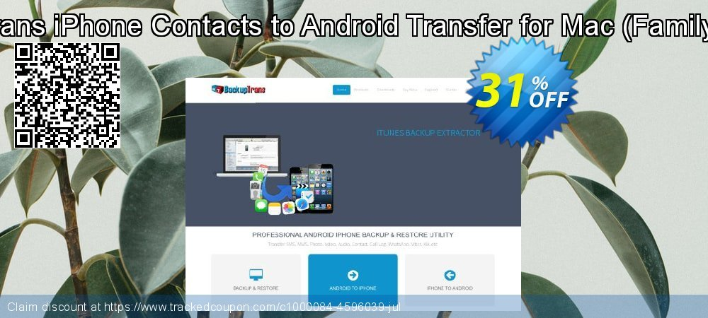 Backuptrans iPhone Contacts to Android Transfer for Mac - Family Edition  coupon on Spring super sale