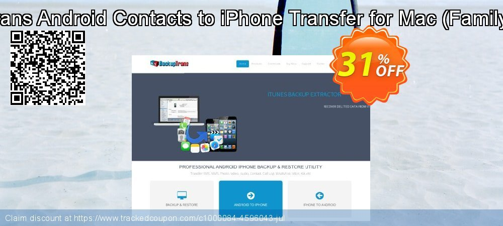 Backuptrans Android Contacts to iPhone Transfer for Mac - Family Edition  coupon on Black Friday promotions